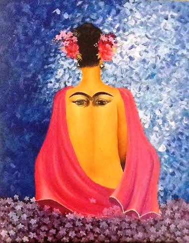 My painting of Frida Kahlo - 2015